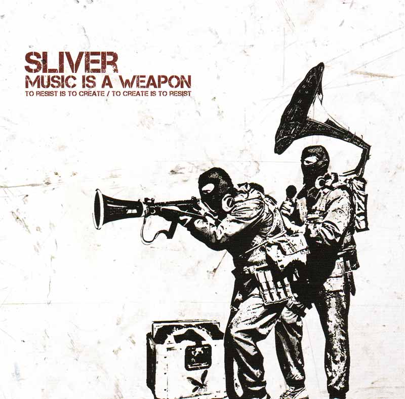 Sliver - Music is a Weapon (Front Cover) | Click to enlarge